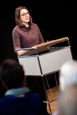 Nina Heidrich M.A. stellte das Lehr- und Forschungsprojekt vor