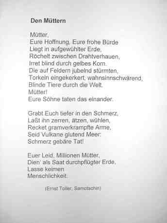 Ernst Toller: Mütter